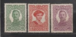 Bosnie-Herzegovine  1918  N° 138 / 40 Neuf X Série Compléte - Bosnie-Herzegovine
