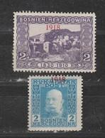 Bosnie-Herzegovine  1918  N° 141 / 42  Neuf X Série Compléte - Bosnie-Herzegovine