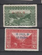 Bosnie-Herzegovine  1915  N° 87 / 88  Neuf X Série Compléte - Bosnie-Herzegovine