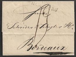 1812 - LAC - DEP. CONQUIS - 128 HAMBOURG ( BOUCHES-DE-L'ELBE ) A BORDEAUX - Marcophilie (Lettres)