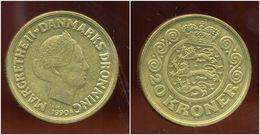 DANEMARK 20 Kroner 1990 ( Bis ) - Danemark