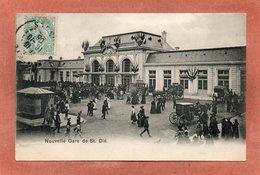 CPA - SAINT-DIE (88) - Aspect De L'inauguration De La Nouvelle Gare En 1906 - Saint Die
