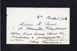 Carte De Visite Madame M. Basset Les Molières Par Limours 91 - Cartes De Visite