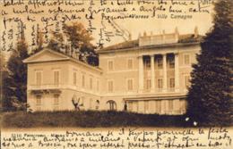 1908-Varese Villa Tamagno, Cartolina Viaggiata - Varese