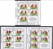 Tajikistan.2017 Football World Cup 2018. 3 Sheetlets, Each Of 5 +label Michel # 761-63A  KB - Tadjikistan