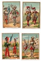 CHROMO Gibert-Clarey Histoire De France Militaria Henri IV François 1er Jeanne D'Arc Lanciers Infanterie (8 Chromos) - Cromo