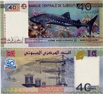 DJIBOUTI       40 Francs       Comm.       P-New       2017       UNC - Djibouti