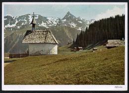 C0103 - Johann König - Mantschwitz Mit Dem Schwarzhorn - Kirche - Carl Werner Reichenbach - Farbenaufnahme - Motivkarte - Kirchen U. Kathedralen