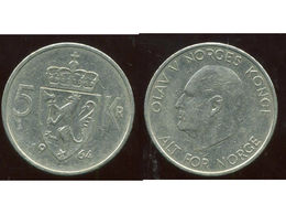 NORVEGE 5 Kroner 1964 - Norvège