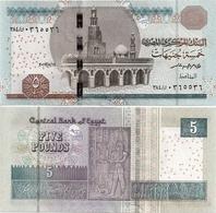 EGYPT       5 Pounds       P-71[b]       14.5.2017       UNC  [ Sign. Amer ] - Egypte