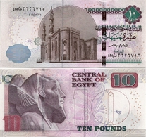 EGYPT       10 Pounds       P-72[b]       31.12.2017       UNC  [ Sign. Amer ] - Egitto