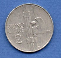 Italie -  2 Lires 1923 R  -  Km # 63 -   état   TTB - 1900-1946 : Victor Emmanuel III & Umberto II