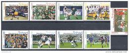 2004 TCHAD 9 Timbres Football**, Non Officiel - Vignettes De Fantaisie