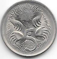 *australia 5 Cents 1980  Km 64   Unc !!! - Autres