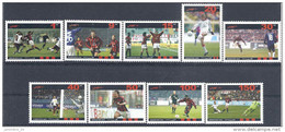 2004 AFGHANISTAN 9 Timbres Football**, Non Officiel - Vignettes De Fantaisie