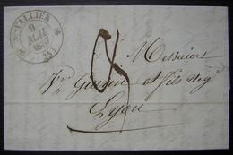 Saint Vallier (Drôme) 1837 Lettre Pour Lyon - Marcophilie (Lettres)