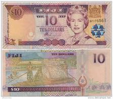 FIJI       10 Dollars       P-106a      ND (2002)       UNC - Figi