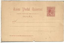 ESPAÑA ENTERO POSTAL ALFONSO XIII PEQUEÑO AGUJERO - 1850-1931