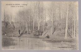 Carte Photo Du 04-REVEST DU BION - Chasse à La Grive - L'étang ( Chasseur) - France