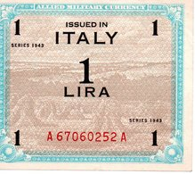 ALLIED MILITARY CURRENCY    DIECI LIRE  SERIES 1943 A - Italien