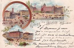 Berlin Litho 1901 Tram - Germany