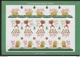 Feuille De Vignettes De Noël Des Iles Aland 2017 Neuve - Aland