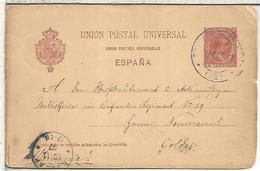 ESPAÑA ENTERO POSTAL ALFONSO XIII A GOLDAP ALEMANIA - 1850-1931