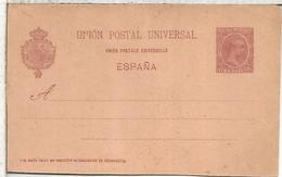 ESPAÑA ENTERO POSTAL ALFONSO XIII VARIANTE UNION EN FRANCES CON ACENTO - 1850-1931