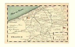 TB CPA Carte Géogr Détaillée Episode Guerre 1914-15 Bataille Yser Dunkerque Furnes Nieuport Dixmude Etc... Ed Rinquet Bx - Guerra 1914-18