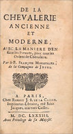 Histoire De La Chevalerie Ancienne - Before 18th Century