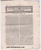 Révolution Journal Politique D'Avignon 1790 - Zeitungen - Vor 1800