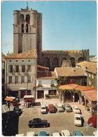 Agde: MERCEDES 180, SIMCA 1500, ARONDE, CITROËN DS, DKW JUNIOR, RENAULT 16, FIAT 615 CAMION  - La Place Jean-Jaurès - Toerisme