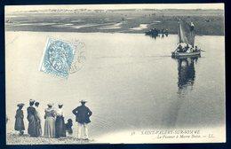 Cpa Du 80 Saint Valery Sur Somme  Le Passeur à Marée Basse    YN32 - Saint Valery Sur Somme