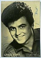 LITTLE TONY Autografo, Mini Cartoncino Pubblicitario - Autografi