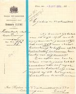 Brief Lettre - Gemeente Elene - Naar Kadaster 1928 - Vieux Papiers