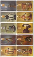 10 Télécartes 1997. Téléphones. Collection Historiques - Telephones