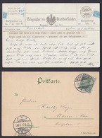Ansichtskarte Telegraphie Des Deutschen Reiches Gestempelt Wiesbaden 1901 - Cartes Postales