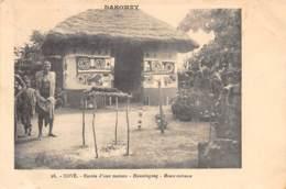 Dahomey - Topo / 119 - Cové - Entrée D'une Maison - Défaut - Dahomey