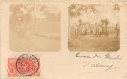 Dahomey - Topo / 121 - Carte Photo - Environs Du Marché - Belle Oblitération - Défaut - Dahomey