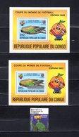 República Del Congo  1980-89 .  Y&T  Nº   24-32-44   Blocks     *   ( C/ Charniere ) - Congo - Brazzaville