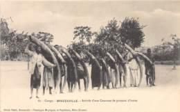 Congo - Brazzaville / 12 - Arrivée D'une Caravane De Porteurs D'ivoire - Brazzaville