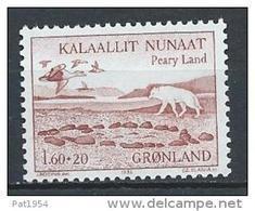 Groënland 1981 N°118 Neuf Expéditions Danoises Avec Loup Et Canard - Groenlandia