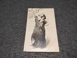 ANTIQUE PHOTO POSTCARD PORTUGUESE UNKNOWN ACTRESS SIGNED NOT USED - Entertainers