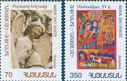 Armenia MNH** 2007 Mi 608-609 Armenian-French Joint Issue Armenian Art - 2 Stamps - Armenia