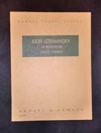 Musica Spartiti - Hawkes Pocket Scores No. 688 - I. Stravinsky - In Memorium - Vecchi Documenti