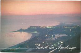 V3125 Sperlonga (Latina) - Panorama Al Tramonto - Sunset Coucher / Viaggiata 1998 - Italia