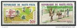 "Hte-Volta YT 173 & 174 "" Education Rurale "" 1966 Neuf** - Haute-Volta (1958-1984)"