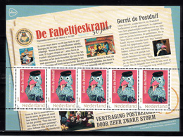 """Nederland 2018, Nvph ??, Mi Nr ??,  """"de Fabeltjeskrant """" Serie Van 5 Zegels, Gerrit De Postduif, Homing Pigeon - Periode 2013-... (Willem-Alexander)"""