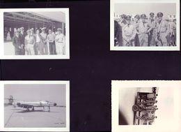 7 Photos Pilotes De Chasse Base De Gimli Au Canada 1956 - Aviation
