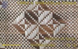 Tonga - White & Brown - 2CTGB - Tonga